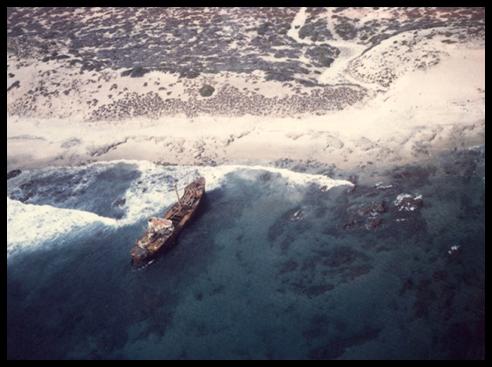 Shipwreck near La Paz where Lodestar went                     down.