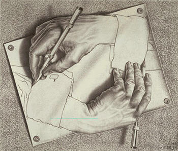 M. C. Escher Hands Drawing Hands